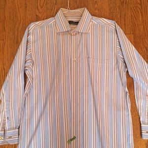 Men's dress shirt size XL by Bugatchi Vomo.